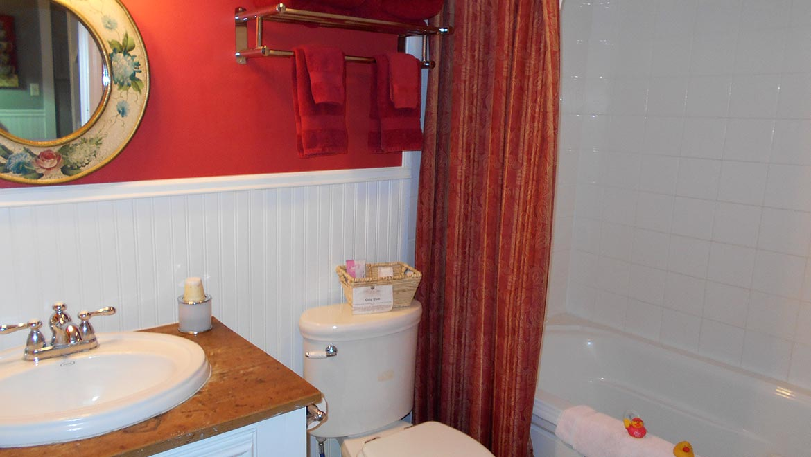 Lavatory in the Eureka Springs Cottage, The Carriage House